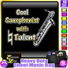 Sax Baritone Cool Player With Natural Talent - Sheet Music Bag by MusicaliTee