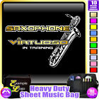Sax Baritone Virtuoso In Training - Sheet Music & Accessories Bag by MusicaliTee