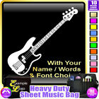 Bass Guitar Picture With Your Words - Sheet Music & Accessories Bag MusicaliTee