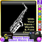Sax Alto Picture With Your Words - Sheet Music & Accessories Bag by MusicaliTee