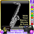 Sax Tenor Picture With Your Words - Sheet Music & Accessories Bag by MusicaliTee
