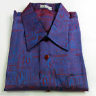 Mens Jacquard Weave Thai Silk Shirt  / Short - Long Sleeve / Small-XXXL / Purple