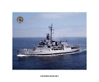 USS BURTON ISLAND AGB 1 , US Naval Ship,  USN Navy Photo Print