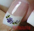 1 Pack of Water Slide Colorful Transfer Nail Art Tattoo Stickers Flowers W1