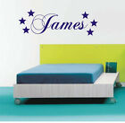 Personalised Star wall art sticker name style A, any name avalible