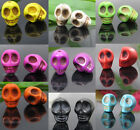 25 pcs colorful Howlite Turquoise Skull Loose Bead  9 color Free choice