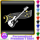 Bass Guitar Curved Stave - Personalised Music T Shirt 5yrs-6XL MusicaliTee 2