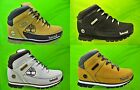Juniors Boys TIMBERLAND Boots Euro sprint Lace Leather White Wheat Size 3 - 6.5