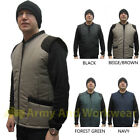 Quilted Mens Padded Bodywarmer Waistcoat Sleeveless Gilet Jacket - Cord Trim New