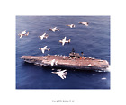 USS Kitty Hawk CV 63  ca.1985 Photo Canvas Print, USN Navy Ship