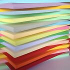 100 SHEET 170gm  A4 COLOURED CARD CHOICE OF 23 COLOURS PASTELS INTENSIVES CREAMS