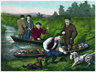 Decor Hunting Poster. Fine Graphic Art. Fishing, Boating. Home Wall Design. 1208