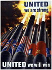 Decor Poster. Fine Graphic Art. United we are strong. Home Wall Design 1421