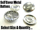Self Cover Buttons Metal Snap Together Choose Size