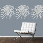 Chrysanthemum flower reusable mylar wall stencil ideal home decor SIZE OPTIONS