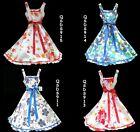 New Girls Swing/Long Dress  Cotton with Tule inside sz 2-3-4-5-6-7-8