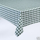 GREEN GINGHAM CHECK VINYL WIPE CLEAN TABLE COVER