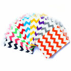 20 Chevron Little Food Safe Flat Paper Craft Bags by Whisker Graphics