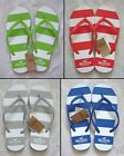 NEW HOLLISTER WOMEN FLIP FLOP STRIPE BLUE RED GRAY GREEN PINK TURQUOISE XS, S, M