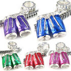 Wholesale Lot 5pcs Silver Shorts Pants European Spacer Charm Beads For Bracelet