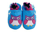 NEW SOFT LEATHER BABY SHOES 0-6,6-12,12-18,18-24mths OWLS