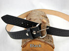 "Barsony Heavy Duty Genuine Black Leather Basket Weave Belt 1.5"" Size 61-62"