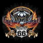 V TWIN ENGINE LEGEND ROUTE 66 BIKER LONG SLEEVE T SHIRT ALL SIZES!! BLACK GRAY