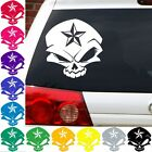 Evil skull nautical star decal sticker jdm car lucky sticker