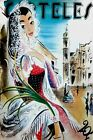 "163.Cuban Fashion poster""Girl in front of Cathedral""art..Decoration dreams"