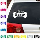 I Heart Love My Boxer decal sticker