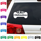 I Heart Love My chihuahua decal sticker