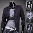 JS Mens Designer Slim Fit Jacket Blazer Coat Shirt Stylish 3 Colors S M L XL