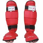 TurnerMAX Shin Guard MMA Leg Foot Protection Karate Instep Pads Muay Thai Red