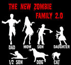 Zombie Decal Stick Figure *2.0* family car graphic custom funny Left 4 Dead