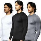 Mens Compression sports Base layer Under Golf Mock Neck long sleeve shirts M~2XL