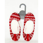 BRAND NEW CHARTER CLUB WOMEN MOCCASIN SLIPPERS RED/WHITE MSRP $24.00 MULTI SIZES