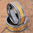 Tungsten Rings Men's & Women's Wedding Bands 14K Gold Accent Jewelry Size 6-13