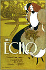 5933 The Echo magazine ad POSTER. Blue Interior design. Decoration Art