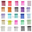 "100 Strong Sheer Organza Pouch 4x6"" 10x15cm Wedding Favor Gift Candy Bag Colors"