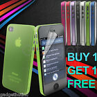 0.3mm SUPER SLIM ULTRA THIN CRYSTAL CLEAR HARD CASE COVER FOR IPHONE 4 4G 4S
