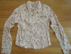 ABERCROMBIE&FITCH Floral Semi Sheer Fitted Fit Button Down Top Shirt Western NEW