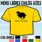 BACON & EGGS FUNNY T-SHIRT ALL SIZES & COLOURS