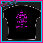 KEEP CALM AND PARTY IN SYDNEY CLUBBING HOLIDAY TSHIRT