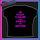 KEEP CALM AND PARTY IN NEW YORK CLUBBING HOLIDAY TSHIRT