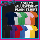 MENS ADULTS VALUEWEIGHT TSHIRT PLAIN DESIGN FRUIT OF THE LOOM