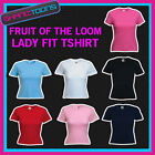 Ladies Womens Plain Fruit of the Loom Feminine Fit T shirt