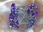 Large Headed 6mm Diamante Crystal Pin -- Various Colours Buttonholes Roses