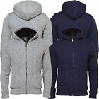 Mens Dissident 1K1050 heavy weight fur lined knitted jacket top knitwear jumper
