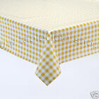 YELLOW GINGHAM VINYL Plastic Patio Table Protector