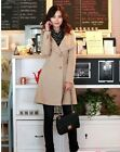 New Womens Fashion Wool Cashmere Winter Noble Long Trench Coat Outwear Top
